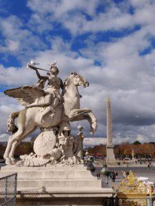 A statue from the Tuileries Garden in Paris. The obelisk of Luxor in Place de la Concorde (3)